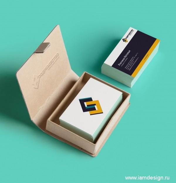 Создание визитных карт для офисного центра Содружество