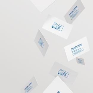 Изготовление визитных карт для интернет-магазина детских товаров