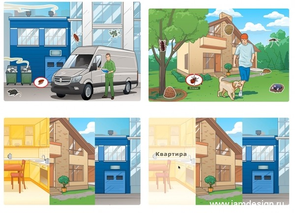 Разработка иллюстраций для сайта компании DEZCOM